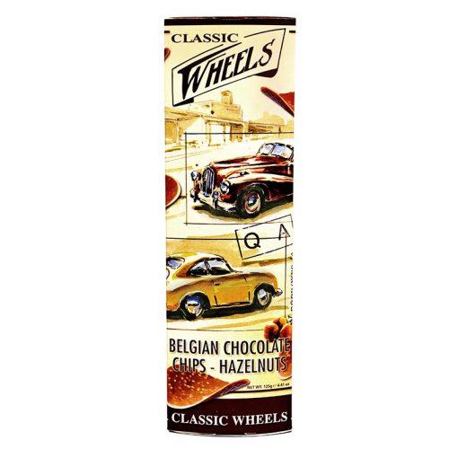Belgická čokoláda čokoládové čipsy s ořísky CLASSIC WHEELS